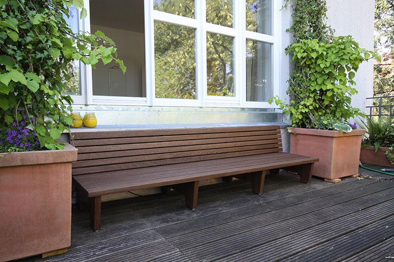 gartenbank in eiche m bel schreiner m nchen. Black Bedroom Furniture Sets. Home Design Ideas